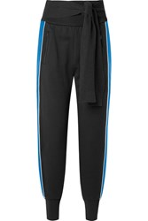 3.1 Phillip Lim Striped French Cotton Terry Track Pants Black