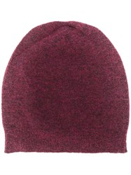 Roberto Collina Knitted Beanie Hat Red