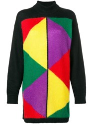 Jc De Castelbajac Vintage 1980'S Block Colour Jumper Black
