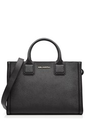 Karl Lagerfeld Leather Classic Tote Bag Black