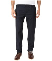 Perry Ellis Slim Cotton Linen Five Pocket Pants Navy Men's Casual Pants