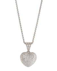 Diana M. Jewels 18K Diamond Heart Pendant Necklace