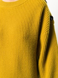 Yves Salomon Shoulder Button Jumper Yellow