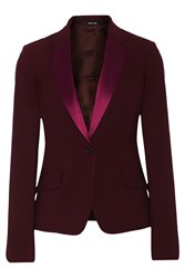 Maison Martin Margiela Satin Trimmed Wool Blend Blazer Red