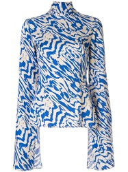 Solace London Kimmie Abstract Animal Print Top 60