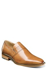 Stacy Adams Saunders Perforated Venetian Loafer Tan Leather