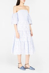 Erdem Women S Dee Off The Shoulder Dress Boutique1 Blue