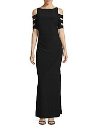 Laundry By Shelli Segal Solid Cutout Sleeve Dress Black