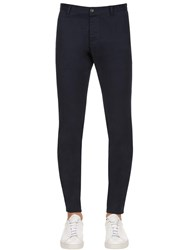 Dsquared 16Cm Tidy Stretch Cotton Twill Pants Navy