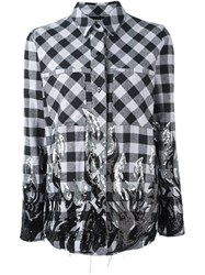 Filles A Papa Tribal Sequinned Checked Shirt Black