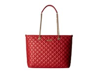 Love Moschino Quilted Tote Red Tote Handbags
