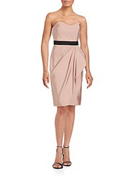 J. Mendel Bustier Silk Sheath Dress Beige
