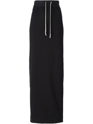 Rick Owens Drkshdw Drawstring Fastening Long Skirt Black