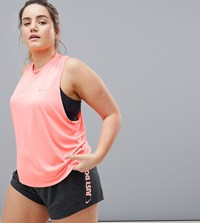 Nike Running Plus Dry Miler Tank In Pink