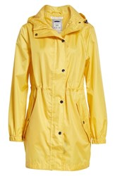 Joules Right As Rain Packable Hooded Raincoat Antique Gold