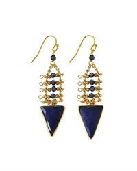 Nakamol Lapis Triangle Dangle Earrings Blue