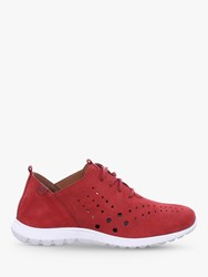 Josef Seibel Malena 09 Cut Out Detail Trainers Red Suede