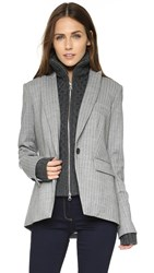 Veronica Beard Adair Peak Lapel Jacket Grey Charcoal Dickey