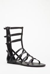 Forever 21 Faux Leather Gladiator Sandals Black