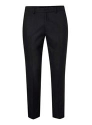Topman Black Zip Ankle Cropped Smart Trousers Grey
