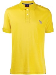 Paul Smith Ps Button Up Polo Shirt Yellow