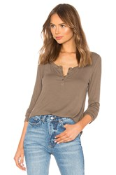Lamade Holly Henley Top Army