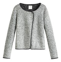 Sandwich Boucle Cardigan Grey