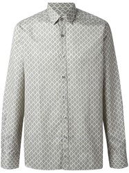 Lanvin Diamond Paisley Pattern Shirt Nude Neutrals
