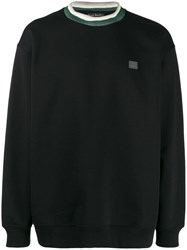 Acne Studios Face Patch Crew Neck Sweatshirt Black