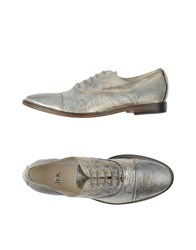 Jfk Footwear Lace Up Shoes Women Silver