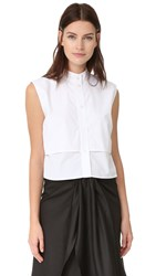 Tome Sleeveless Shirt White