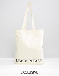 Reclaimed Vintage Tote Beach Please Beige