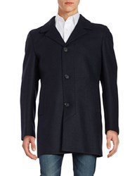 Strellson Petar Wool Blend Coat Navy