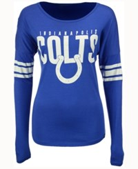 47 Brand '47 Women's Indianapolis Colts Courtside Long Sleeve T Shirt Blue