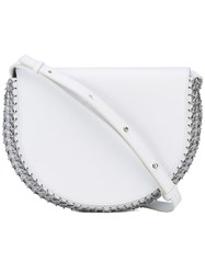 Paco Rabanne Stitched Trim Tote Women Calf Leather One Size White