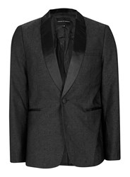 Topman Grey Rogues Of London Black Textured Suit Jacket