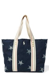 Polo Ralph Lauren Flag Canvas Tote Blue Star Tote