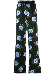 Essentiel Antwerp Floral Print High Waist Trousers Black