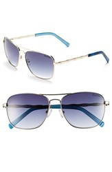 Women's Lilly Pulitzer 'Cambridge' 59Mm Aviator Sunglasses Gold Blue Tortoise