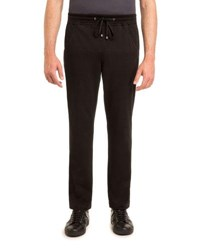 Stefano Ricci Jogger Pant With Open Bottom Black