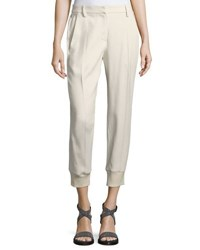 Brunello Cucinelli Tailored Jogger Pants Cream