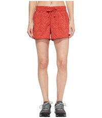 The North Face Class V Shorts Sunbaked Red Chevron Print
