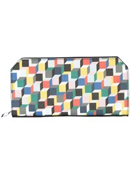 Pierre Hardy Cube Print Continental Wallet Multicolour