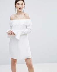 Amy Lynn Off Shoulder Dress White