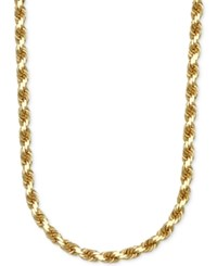 Macy's 3 1 3Mm Rope Chain 24' Necklace In 14K Gold