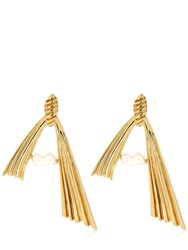 Attico Alican Icoz Amore Pearl Earrings Gold