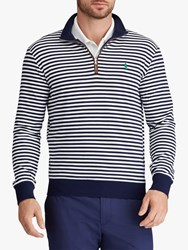 Ralph Lauren Polo Golf By Slim Fit French Terry Sweatshirt French Navy White