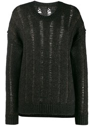 Uma Wang Loose Knit Cardigan Black