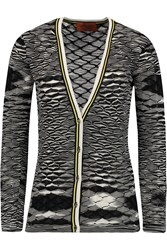 Missoni Crochet Knit Cardigan Black