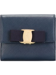 Salvatore Ferragamo 'Miss Vara' Short Wallet Blue